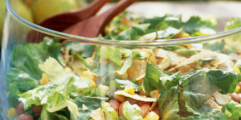 Southwestern Salad with Avocado-Lime Dressing