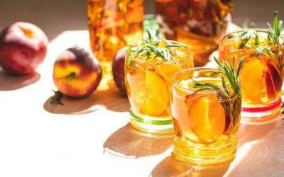 Rosemary-Peach Drinking Vinegar