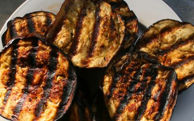 Grilled Eggplant With Mint