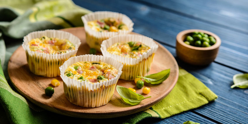 Egg-less Mini Veggie Frittatas