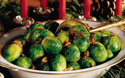 Holiday Instant Pot Brussels Sprouts with Caramelized Onions