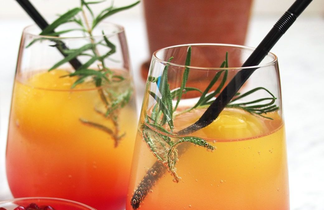 Kombucha Mimosa Mocktail
