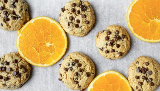 Paleo Orange Chocolate Chip Cookies