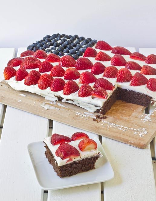 Gluten-Free Chocolate Flag Cake