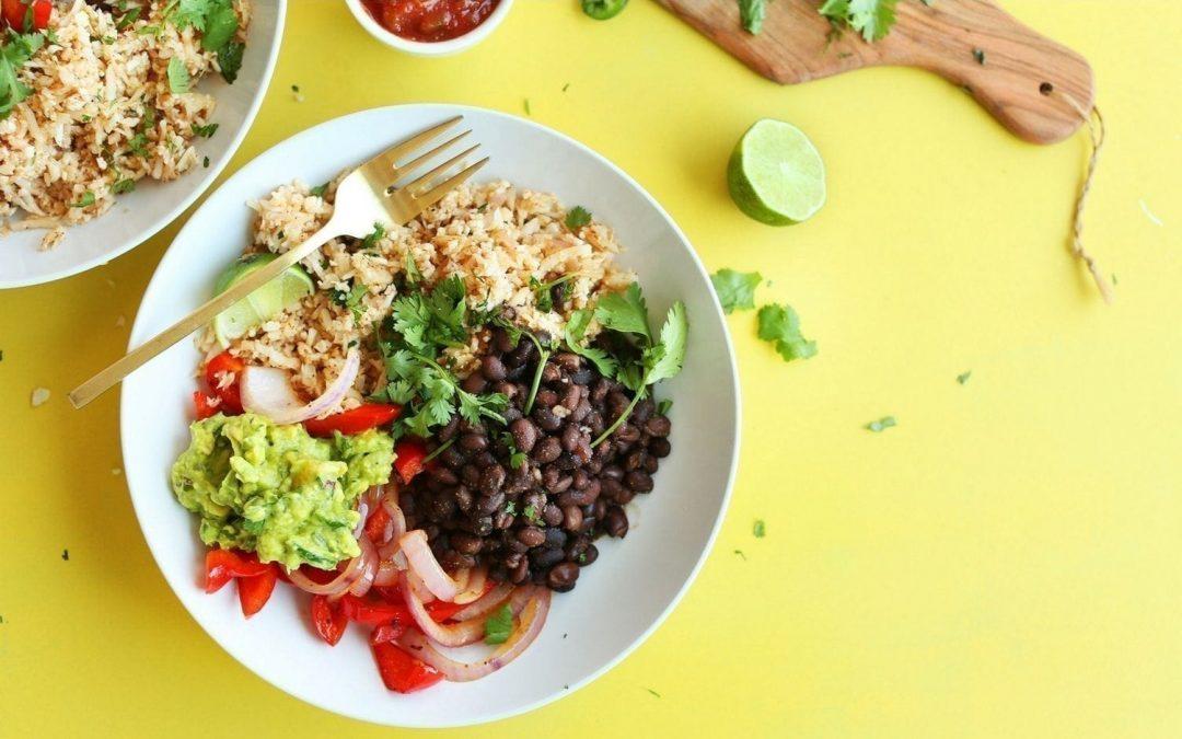 Easy Prep High-Protein Kidney Bean Burrito Bowl