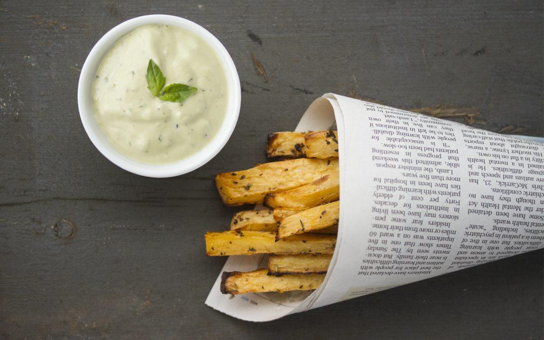 Rutabaga Fries With Basil Mayo